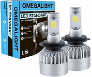 Лампа LED Omegalight Standart H7  2400 lm 6000K (1 шт)