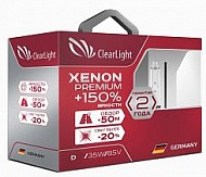 Лампа ксенон D2S 5000К Clearlight Xenon Premium +150%